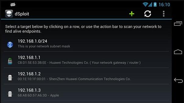 DSploit: aplicaciones android hackear wifi