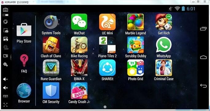 ko player: mejores emuladores de android para pc