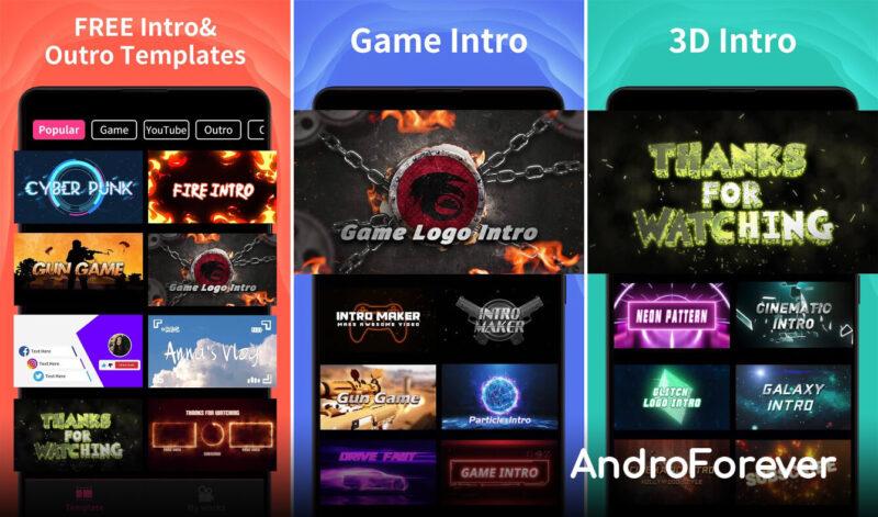 interfaz app intro maker