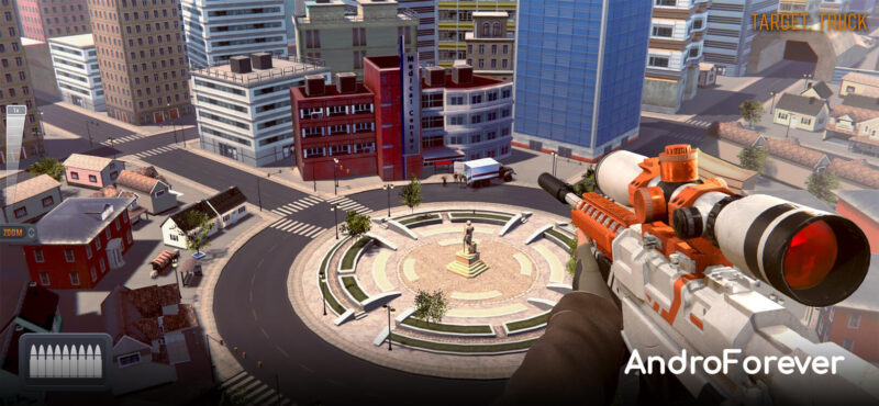interfaz juego sniper 3d