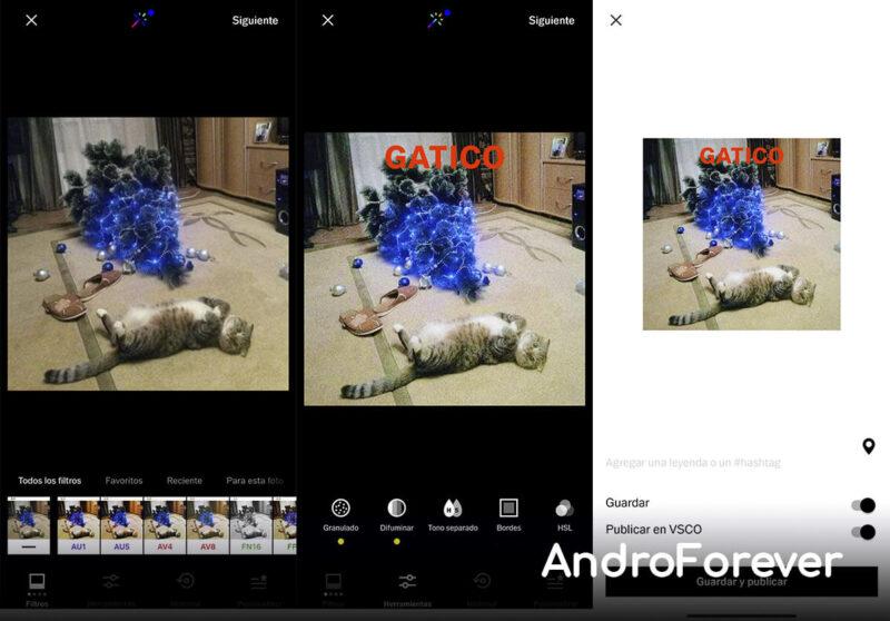 captura de pantalla vsco mod para android