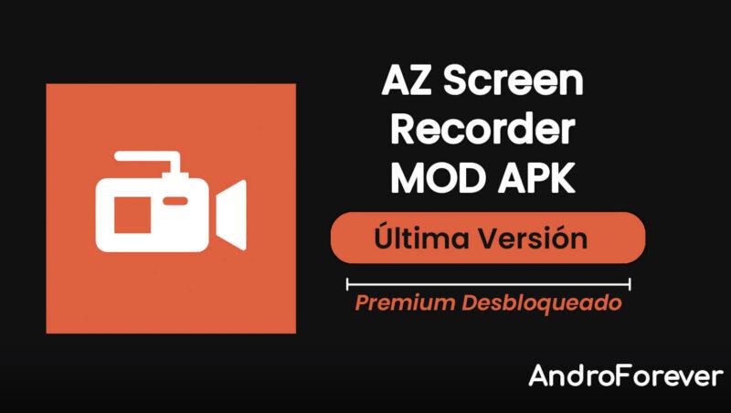 descargar az screen recorder apk mod para android